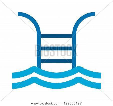 Swimming pool logo vector illustration. Water icon symbol pool logo and water pool logo. Pool logo element wave swim design blue shape. Abstract sea symbol pool splash graphic aqua logo.