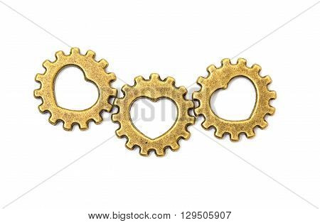 Vintage Mechanical Cogwheel Gears Wheels