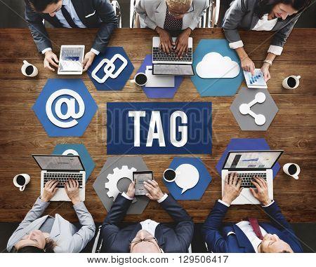 Tag Label Mark Identify Symbols Concept