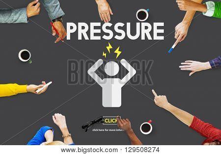 Pressure Afraid Nervous Panic Phobia Stressed Concept poster