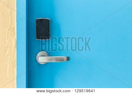 Entrance Door With Electronic Keycard Lock System