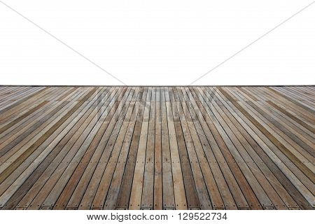 Wooden Flooring With White Isolated Space For Design