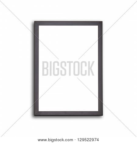 Blank Of Wooden Photo Frame Isolated On White
