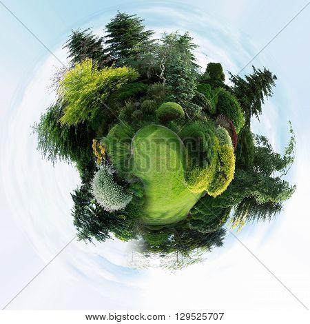 Planet Of Beautiful Spring Garden Design