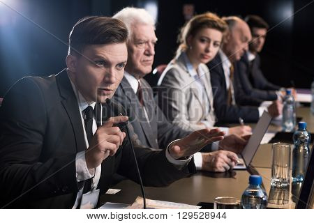 Business Press Conference
