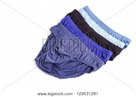 Close Up Men Underwear Isolated On White