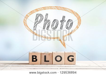 Photography Blogger Sign On A Table