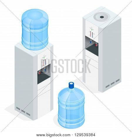 Water dispenser isolated on white background. Water cooler for office.