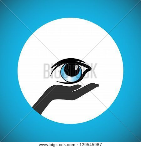 A simple pledge to donate the eyes after death and support the People to carry out the wishes of eye donation. Also Illustrates Eye Protection Or Eye Doctor Concept and World Glaucoma Day.