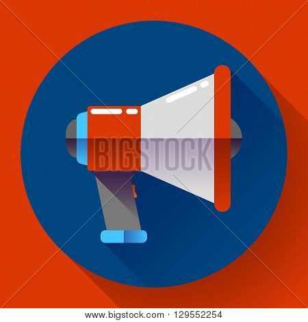Megaphone Icon Vector. Viral marketing. Flat design style