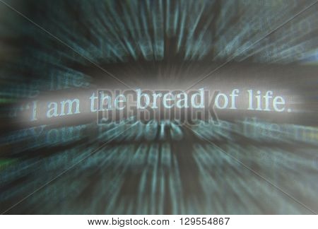Bible Text - I Am The Bread Of Life - John 6:48