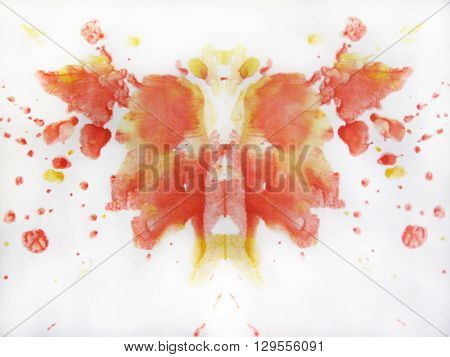 Abstract watercolor butterfly drawing. Illustration stains and splatters
