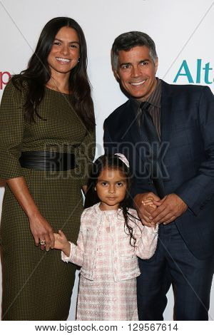 LOS ANGELES - MAY 12:  Elvimar Silva, Mariana Oliveira Morales, Esai Morales at the Power Up Gala at the Beverly Wilshire Hotel on May 12, 2016 in Beverly Hills, CA