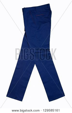 Men's casual pants on a white background