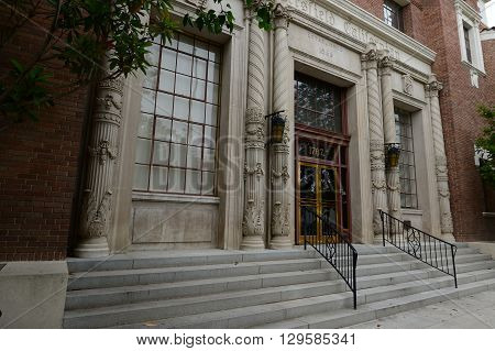 BAKERSFIELD, CA - MAY 8, 2016: The Bakersfield Californian is a newspaper continuously published since 1866. The building is listed on the National Register of Historic Places.