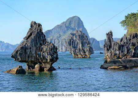Limestone Formations at Lagen Island El Nido Palawan Philippines