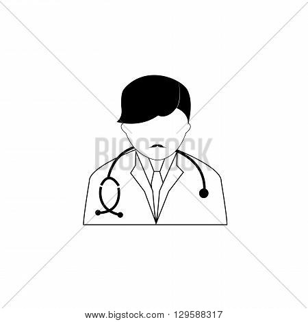 Pictogram of a doctor with his sthethoscope