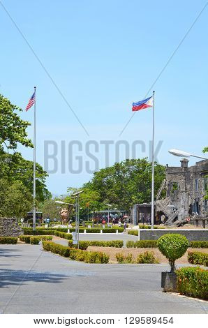CORREGIDOR PHILIPPINES - APRIL 3 2016: Pacific War Memorial. Completed in 1968 to commemorate the Filipino and American Servicemen of WWII.