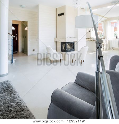 Photo of the beautiful interior of a luxury apartment