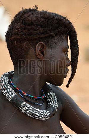 Himba Girl Portrait, Namibia