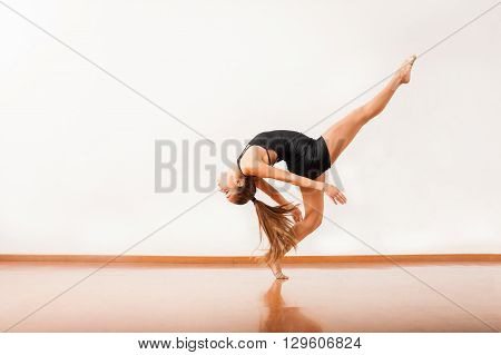 Young Woman Showing Off Her Dance Moves