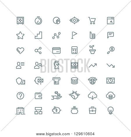 Business management, strategy, career vector line icons set. Business icon, management icon, development career icon, business growth, business organization, business marketing illustration