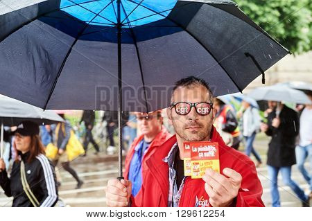 Man With Protest Glasses