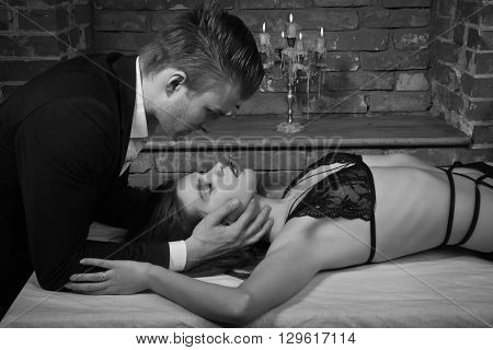 Domineering Lover Kisses His Sexy Submissive