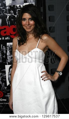Jamie-Lynn Sigler at the season 3 premiere of HBO's 'Entourage' held at the Cinerama Dome in Hollywood, USA on April 5, 2007.
