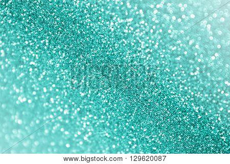Teal turquoise or aqua green glitter sparkle background confetti party invite