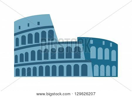 Colosseum in rome, italy isolated on white and coliseum isolated building symbol historic arch. Coliseum isolated famous architecture and travel tourism amphitheater coliseum isolated.