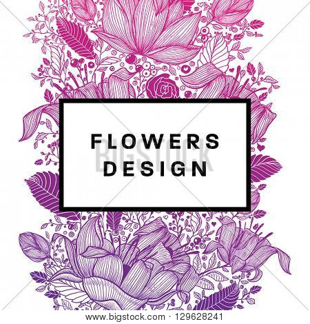 Floral Graphic Design. Spring and Summer Fashion Style with Vector Graphic Flowers.