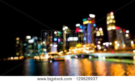 Bokeh Skyline Background
