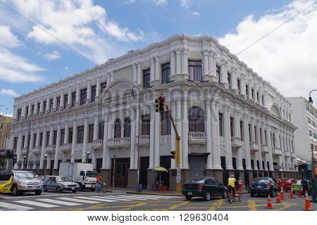 SAN JOSE, COSTA RICA - May 13: Melico Salazar Theatre, located in  San José  Downtown, originally named the Raventós Theater, it was renamed in 1986 to honor famous Costa Rican tenor Manuel Melico Salazar. May 13, 2016 in San Jose.