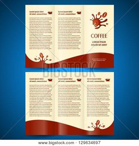 brochure folder card coffee beans element design
