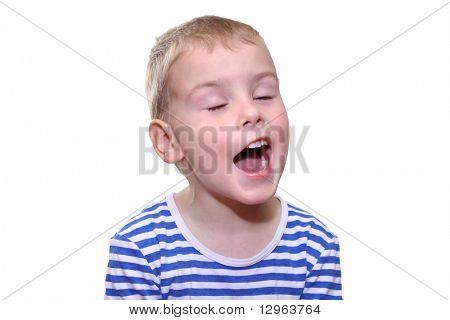 child singing poster