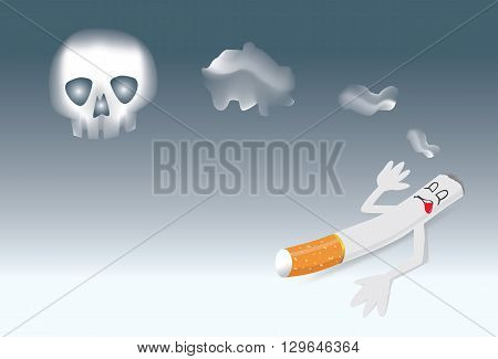 Stop smoking symbol for World No Tobacco Day in public places