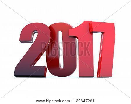 2017 Happy New Year calendar background 3D rendering