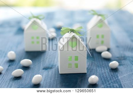 shaped favors the house that contain confettiitaly poster