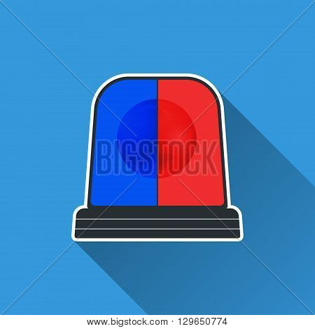Flasher light icon. Special flasher of emergency police fire ambulance department. Vector illustration