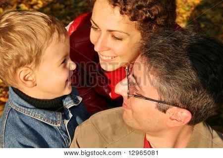 autumn family faces