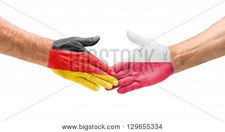 Football Teams - Handshake Between Germany And Poland