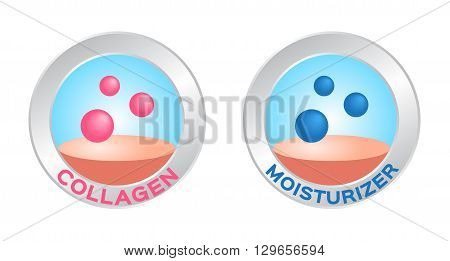 collagen logo on white background , 2 versions