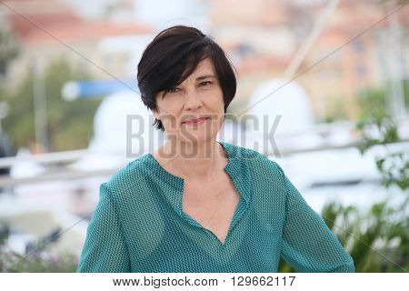 Jury member Catherine Corsini attends the Jury Camera D'Or Photocall during the 69th annual Cannes Film Festival at the Palais des Festivals on May 13, 2016 in Cannes, France.