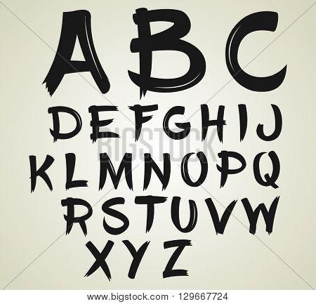 Handwritten calligraphy font