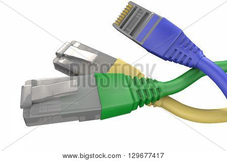 3D model computer connector (RJ10, RJ11, RJ12, RJ45)