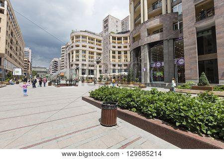 Yerevan, Armenia-may 02:north Avenue In Yerevan On May 02, 2016. It`s Pedestrian Street In Yerevan.