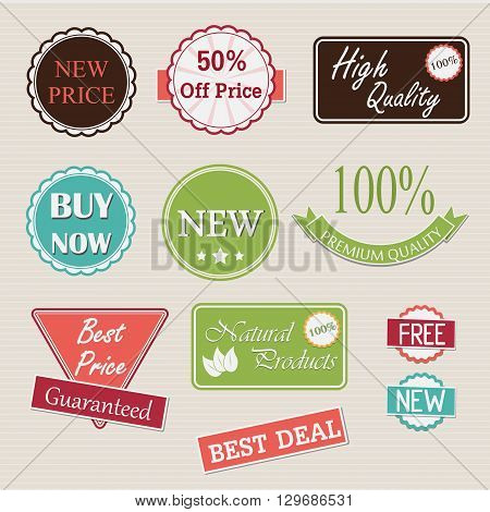 Quality retro badges and labels collection - vector Illustration