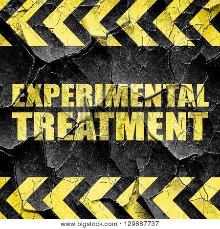 experimental treatment, black and yellow rough hazard stripes