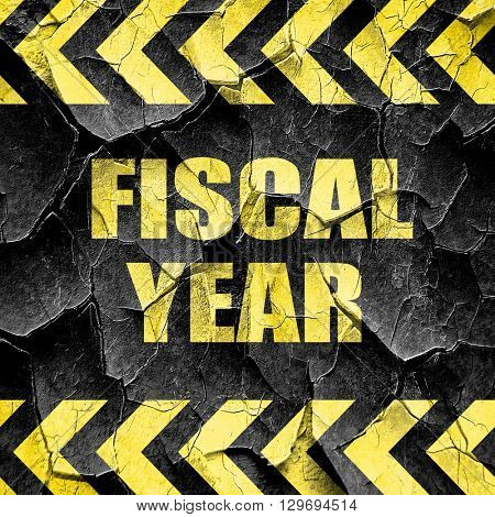 fiscal year, black and yellow rough hazard stripes